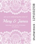 wedding invitation template... | Shutterstock .eps vector #1291032538