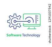 software development ... | Shutterstock .eps vector #1291037542