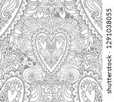 coloring picture with the... | Shutterstock .eps vector #1291038055