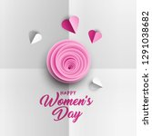 happy women's day greeting card ... | Shutterstock .eps vector #1291038682