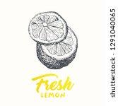 fresh lemons vector banner... | Shutterstock .eps vector #1291040065