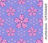 happy valentine's day. seamless ... | Shutterstock .eps vector #1291046665
