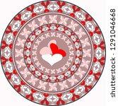 vector circular pattern for... | Shutterstock .eps vector #1291046668
