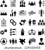 human resources management icons   Shutterstock .eps vector #129105455