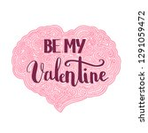 valentines day quote for... | Shutterstock .eps vector #1291059472