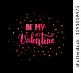 valentines day quote for... | Shutterstock .eps vector #1291059475