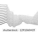 black and white mobious wave... | Shutterstock .eps vector #1291060435