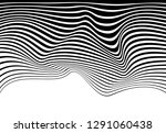 black and white mobious wave... | Shutterstock .eps vector #1291060438