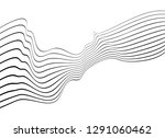 black and white mobious wave... | Shutterstock .eps vector #1291060462