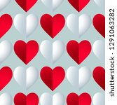seamless colorful vector hearts ... | Shutterstock .eps vector #1291063282