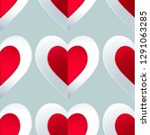 seamless colorful vector hearts ... | Shutterstock .eps vector #1291063285