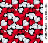 seamless colorful vector hearts ... | Shutterstock .eps vector #1291063288