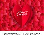 valentine's day vector... | Shutterstock .eps vector #1291064245
