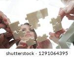 bottom view. business team... | Shutterstock . vector #1291064395