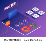 isometric vector. set of...   Shutterstock .eps vector #1291071532