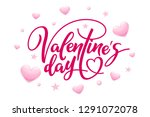 valentine's day poster. holiday ... | Shutterstock .eps vector #1291072078