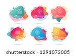 dynamic liquid shapes. set of... | Shutterstock .eps vector #1291073005