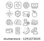 set of feedback  load document... | Shutterstock .eps vector #1291073035