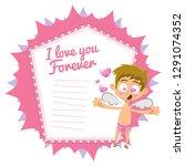 hand drawn valentine's day... | Shutterstock .eps vector #1291074352