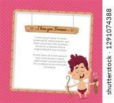 valentine's day background  | Shutterstock .eps vector #1291074388