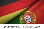 germany and portugal two flags...   Shutterstock . vector #1291082695