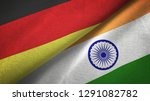 germany and india two flags...   Shutterstock . vector #1291082782
