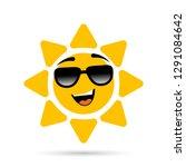 sunshine with sunglasses... | Shutterstock .eps vector #1291084642
