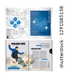 printing magazine  brochure... | Shutterstock .eps vector #1291085158