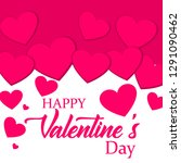 happy valentine day design... | Shutterstock .eps vector #1291090462