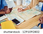 cropped image of male and...   Shutterstock . vector #1291092802