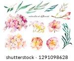 delicate watercolor romantic... | Shutterstock . vector #1291098628