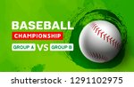 baseball flyer poster design... | Shutterstock .eps vector #1291102975