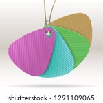 a collection of paper labels.... | Shutterstock .eps vector #1291109065
