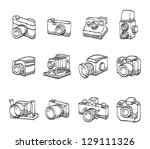 camera  icons in sketch. | Shutterstock .eps vector #129111326