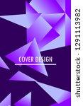 polygonal abstract illustration.... | Shutterstock .eps vector #1291113982