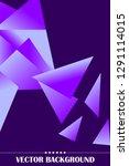 polygonal abstract illustration.... | Shutterstock .eps vector #1291114015