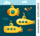 Yellow Submarine Undersea With...