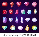 gemstones jewelry icons.... | Shutterstock .eps vector #1291120078