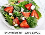 Salad With Strawberry  Spinach...