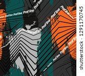trendy typography slogan sports ... | Shutterstock .eps vector #1291170745