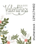 happy valennes day label with... | Shutterstock .eps vector #1291174402