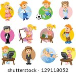 vector illustration of people... | Shutterstock .eps vector #129118052