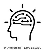 ai   arttificial intelligence ... | Shutterstock .eps vector #1291181392