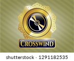 shiny emblem with cd or dvd... | Shutterstock .eps vector #1291182535