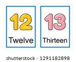 printable flash card collection ... | Shutterstock .eps vector #1291182898