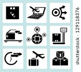 shipping icons set  logistic... | Shutterstock .eps vector #129118376