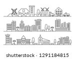 vector city and countryside... | Shutterstock .eps vector #1291184815