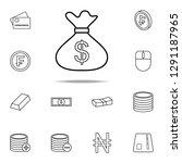 money bag icon. mobile banking...