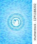 shower icon inside sky blue... | Shutterstock .eps vector #1291188202