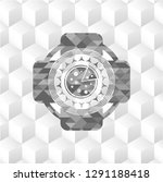pizza icon inside grey emblem... | Shutterstock .eps vector #1291188418